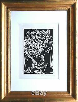 Max Pechstein 1881-1955 Weib Manne begehrt 1919 signiert Holzschnitt Ausstellung