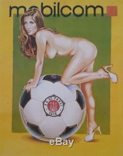 Mel Ramos Frau mit Ball Farblithografie 2003 handsigniert nummeriert
