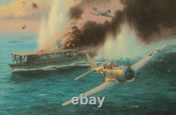 Midway, the Attack on the Sry by Anthony Saunders signed by Pacific veterans