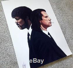 Mike Mitchell The Hitmen Pulp Fiction Portrait Art Print Tarantino Vincent Jules