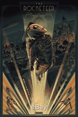 Mondo Poster THE ROCKETEER Variant Cesar Moreno Disney Cyclops xx/175