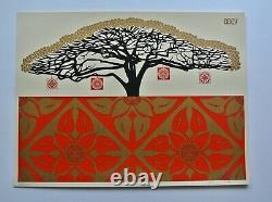 Monkey Pod Red 2006 Signed/numbered Screen Print Obey Shepard Fairey