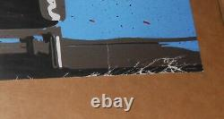 Mr. Brainwash Maxell Blown Away Guy Original Poster Warhol 36x16.5 SIGNED
