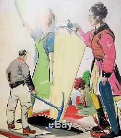 NEO RAUCH große OFFSET, handsigniert, 84 x 59 cm
