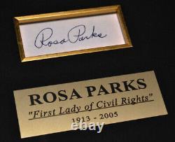 NORMAN ROCKWELL Canvas Print Autograph, Signed ROSA PARKS, Frame, DVD, COA, UACC