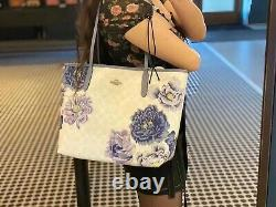 NWT COACH City Tote In Signature Canvas With Kaffe Fassett Print