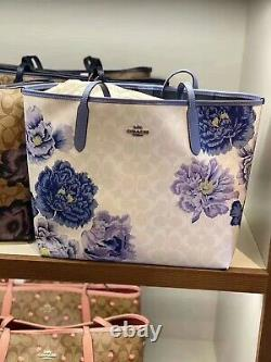 NWT COACH City Tote In Signature Canvas With Kaffe Fassett Print limited edition