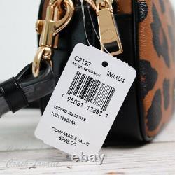 NWT Coach C2123 Jes Crossbody 20 Camera Bag in Leopard Print