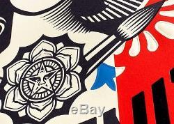 New Large Format Obey Letterpress Signed Shepard Fairey Liberte Egalite Print