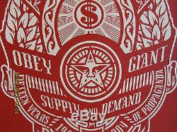 Obey Giant Supply & Demand Set 2004 Shepard Fairey Poster #/300 Signed Red Black