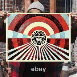 Obey Giant Tunnel Vision Blue Shepard Fairey Screen Print Poster