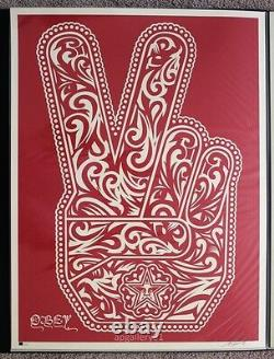 Obey Peace Fingers print by Shepard Fairey signed and numbered