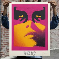 Obey Shepard Fairey Shadow play Orange LE/350 Print Confirmed Order Sold OUT
