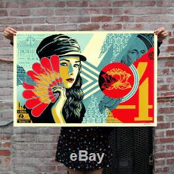 Obey Sheperd Fairey Fan the Flames Signed And Numbered Edition Print Of 550