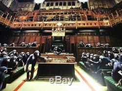 Official Banksy Monkey Parliament Print/Poster Bristol Museum 2009 Street Art