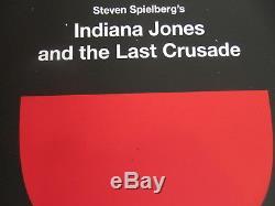 Olly Moss Indiana Jones Last Crusade Screen Print Movie Poster Mondo