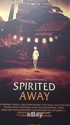 Olly Moss Spirited Away Howl's Moving Castle Regular Print Poster Set Mondo