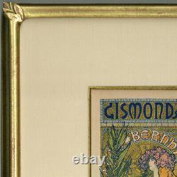 Original 1896 Gismonda by Alphonse Mucha Maîtres de l'Affiche Plate 27