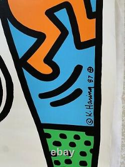 Original 1987 KEITH HARING Lucky Strike Screenprint Plate Signed BANKSY Swatch