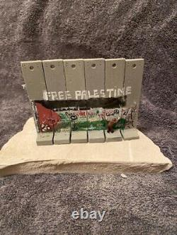 Original EXTREMELY RARE Banksy Walled Off Hotel Free Palestine Wall