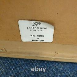 Original Tretchikoff Miss Wong Green Lady Framed Print Boots see description