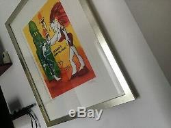 Original Udo Lindenberg Siebdruck mit Zertifikat und Rahmen