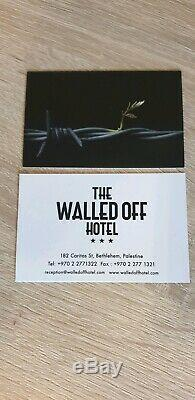 Original banksy Armoured Dove Walled Off Hotel-Original certificate Sold OUT