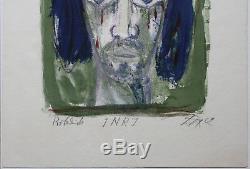 Otto Dix INRJ museales Meisterwerk sehr seltener ausdrucksstarker Probedruck