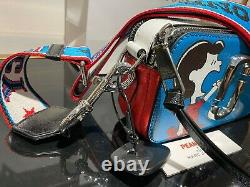 PEANUTS x MARC JACOBS Snapshot LUCY Blue Multi Small Camera Bag 100% AUTHENTIC