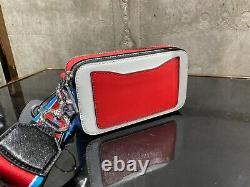 PEANUTS x MARC JACOBS Snapshot SNOOPY White Multi Small Camera Bag 100% AUTHENTI