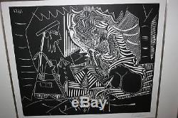 Pablo Picasso Dejeuner Sur L'herbe Linocut Linoleum Cut