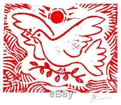 Pablo Picasso Original Ltd Ed Print Dove of Peace Hand Signed withCOA (unframed)