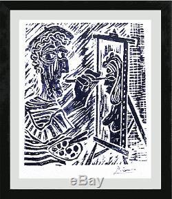 Pablo Picasso Original Ltd Ed Print The Artist Hand Signed with COA (unframed)