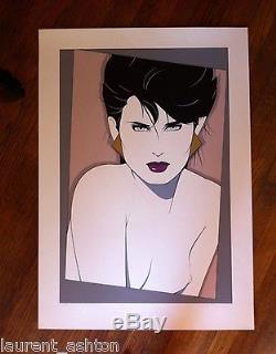 Patrick Nagel Kristen Hand Signed Serigraph Silkscreen Avant La Lettre Fine Art