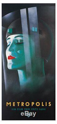 Poster Kunstdruck METROPOLIS Werner Graul Bild Filmplakat Film Fritz Lang 88x190