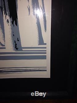 RARE! Disney Artist EYVIND EARLE Huge 30x40 Serigraph YOSEMITE signed #42/188