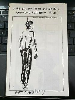 RAYMOND PETTIBON Rare Original Vintage Punk Zine Just Happy to Be Working