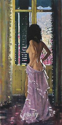 ROBERT KING Andalucian Window nude woman SIGNED! SIZE54cm x 31cm SEE OUR SHOP
