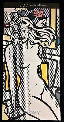 ROY LICHTENSTEIN HAND SIGNED NUDE WITH YELLOW PILLOW PRINT With C. O. A