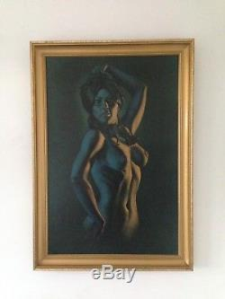 Rare 1970's Stephen Pearson Framed Erotic Print, Conchita Tretchikoff, Lynch Era