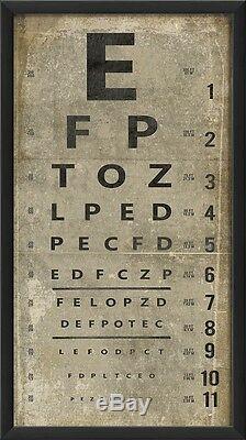 Restoration Vintage Eye Chart Letters Museum Quality Industrial Hardware $185