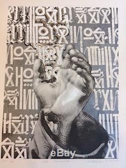 Retna El Mac The Conductor print extremely rare, kaws, obey, banksy, Mr. Brainwash