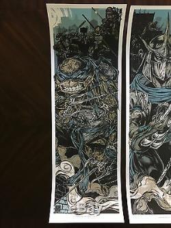 Rhys Cooper TMNT variant 4 print set Teenage Mutant Ninja Turtles screen prints