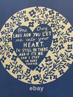 Rob Ryan One Day Long Ago You Let Me Into Your Heart Screen Print Signed