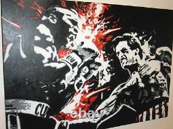 Rocky 3 Oil Painting 40x26 NOT a print poster. Box Framing Avail. Apollo Creed