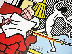 Roy Lichtenstein Poster Tintin Reading / Crac Popart Vintage Silkscreen Mint
