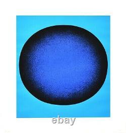 Rupprecht Geiger Blau in Blau / blauer Kreis. 1969. Sign. O. Farbsiebdruck