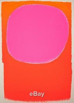 Rupprecht Geiger Rot in Rot/orange leuchtrot Serigraphie 1963 138/300