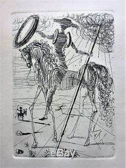 SALVADOR DALI Original Signed Etching (1960's) WITH CERTIFICATE OF AUTHENTICITY