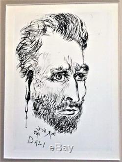 SALVADOR DALI VINCENT VAN GOGH Original Signed art from the 1960's WITH COA